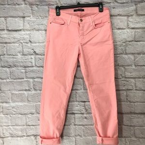 Denim - Angry Rabbit Womens Ankle Color Skinny Jeans Pink